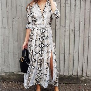 Topshop snake print shirt dress